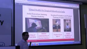 Presentation on Training Surgeons using VR Surgical Simulators Dr. Bhargava Swamy | Professional Education Manager, Johnson & Johnson Medical Devices