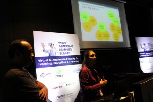 Harbinger Interactive Learning VP Poonam Jaypuriya & Maheshkumar Kharade presenting on #ArtificialIntelligence in #eLearning at the vamrr Immersive Learning Summit on 27 Sep in #Pune
