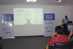 Tata Interactive's Rajesh Sunderesan presenting on Immersive Learning for the modern learner