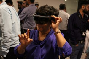 Totally Immersed. A delegate checking out MR at the Pune summit
